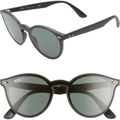 Ray-Ban Phantos 55Mm Round Sunglasses - Matte Black