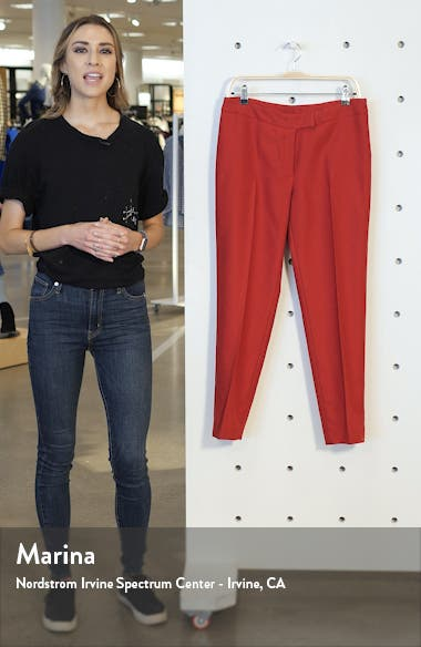 Textured Stretch Twill Slim Trousers, sales video thumbnail