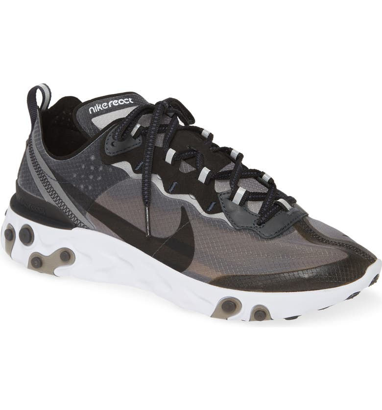 NIKE React Element 87 Sneaker, Main, color, ANTHRACITE/ BLACK/ WHITE