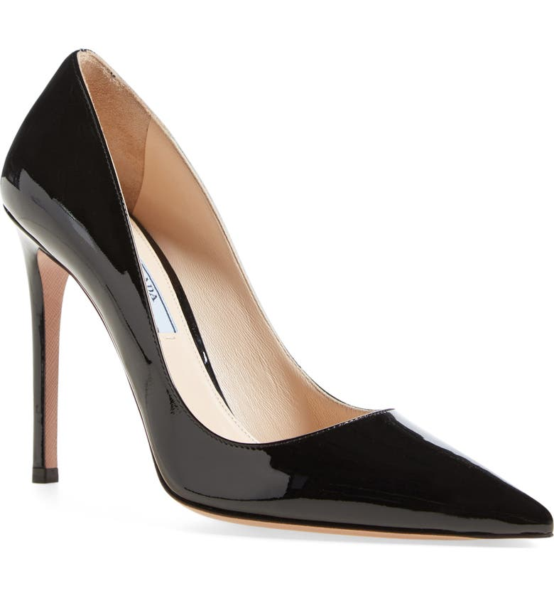 708fc3c8c8 Pointy Toe Pump, Main, color, BLACK LEATHER