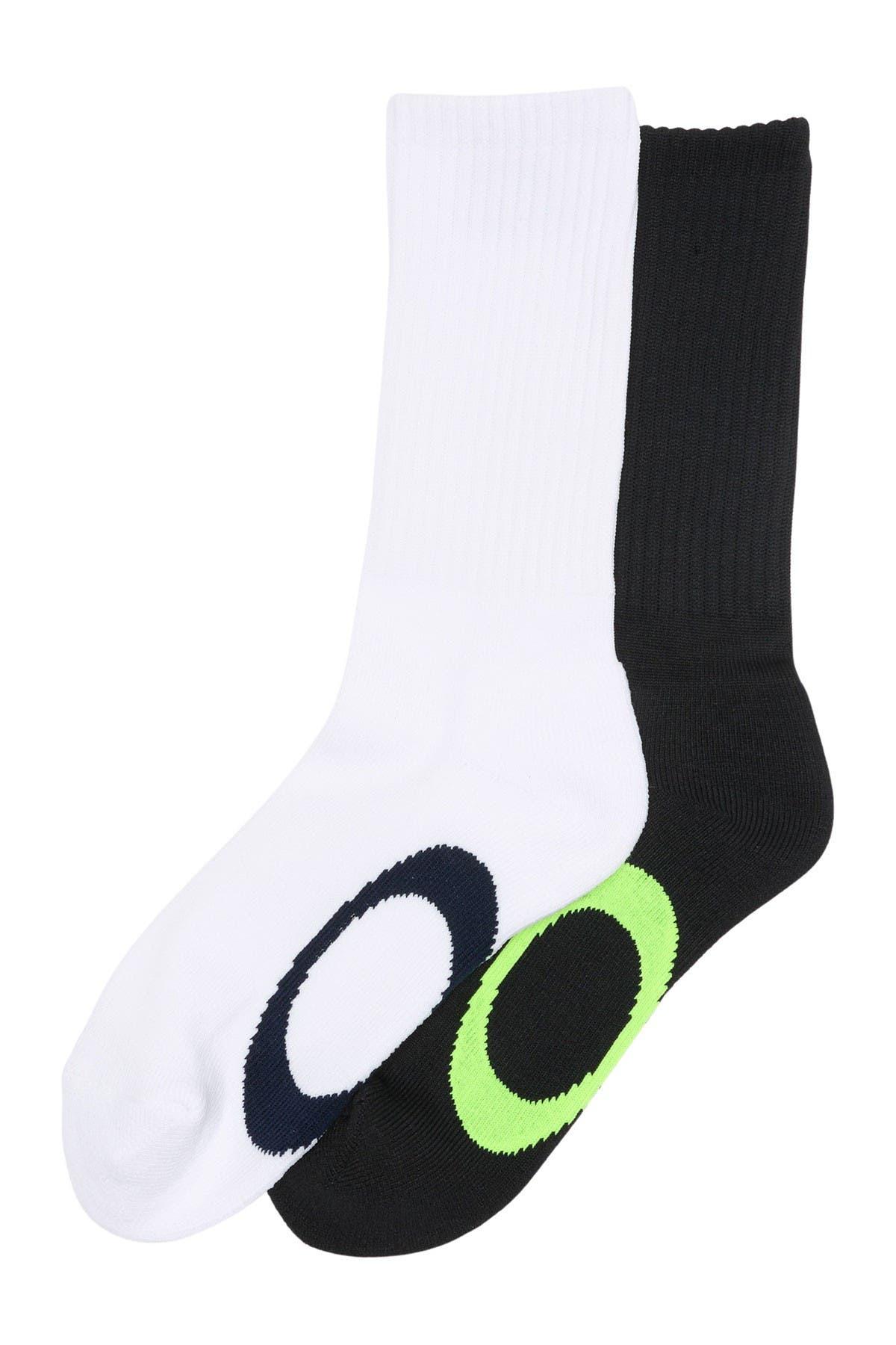 Image of Oakley Ellipse Logo Macro Crew Socks - Pack of 2