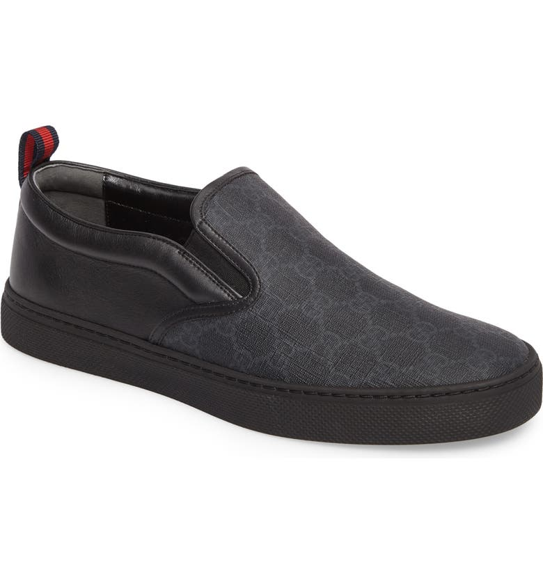 GUCCI Dublin Slip-On, Main, color, BLACK GG SUPREME