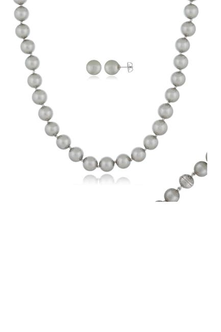 Image of Splendid Pearls 10mm Gray Shell Pearl Set