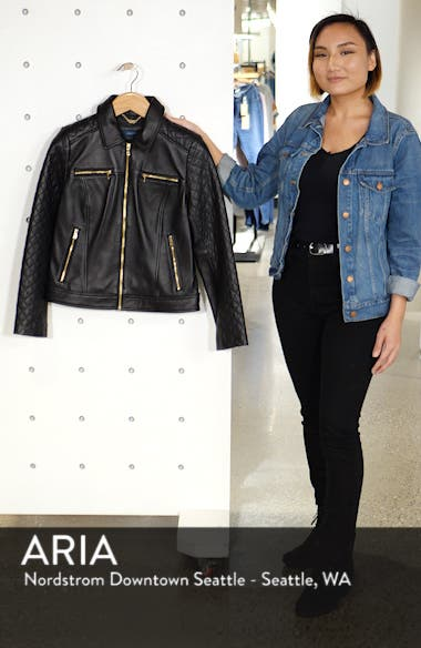 Quilted Lambskin Leather Jacket, sales video thumbnail