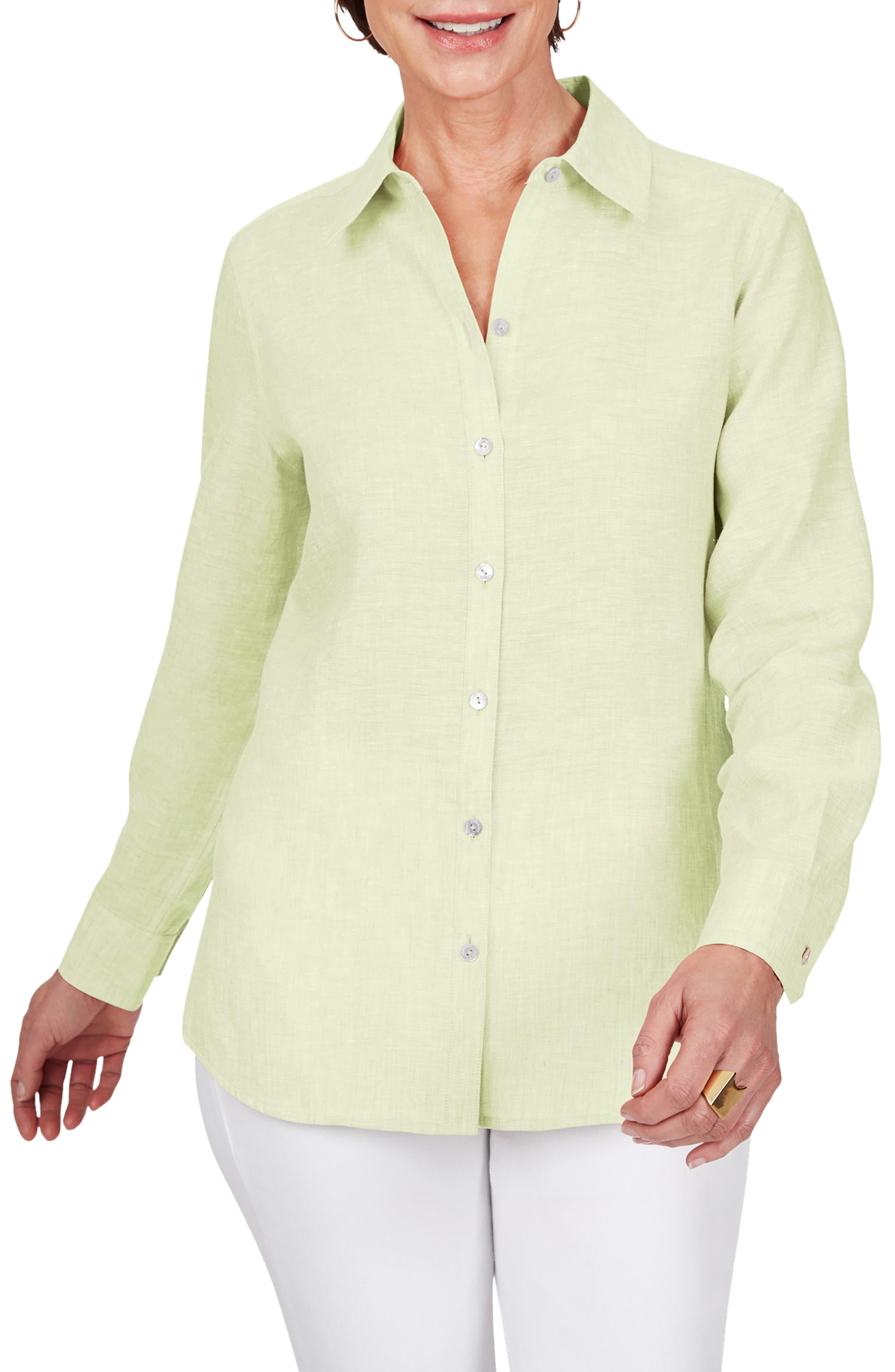 Jordan Non-Iron Linen Chambray Shirt