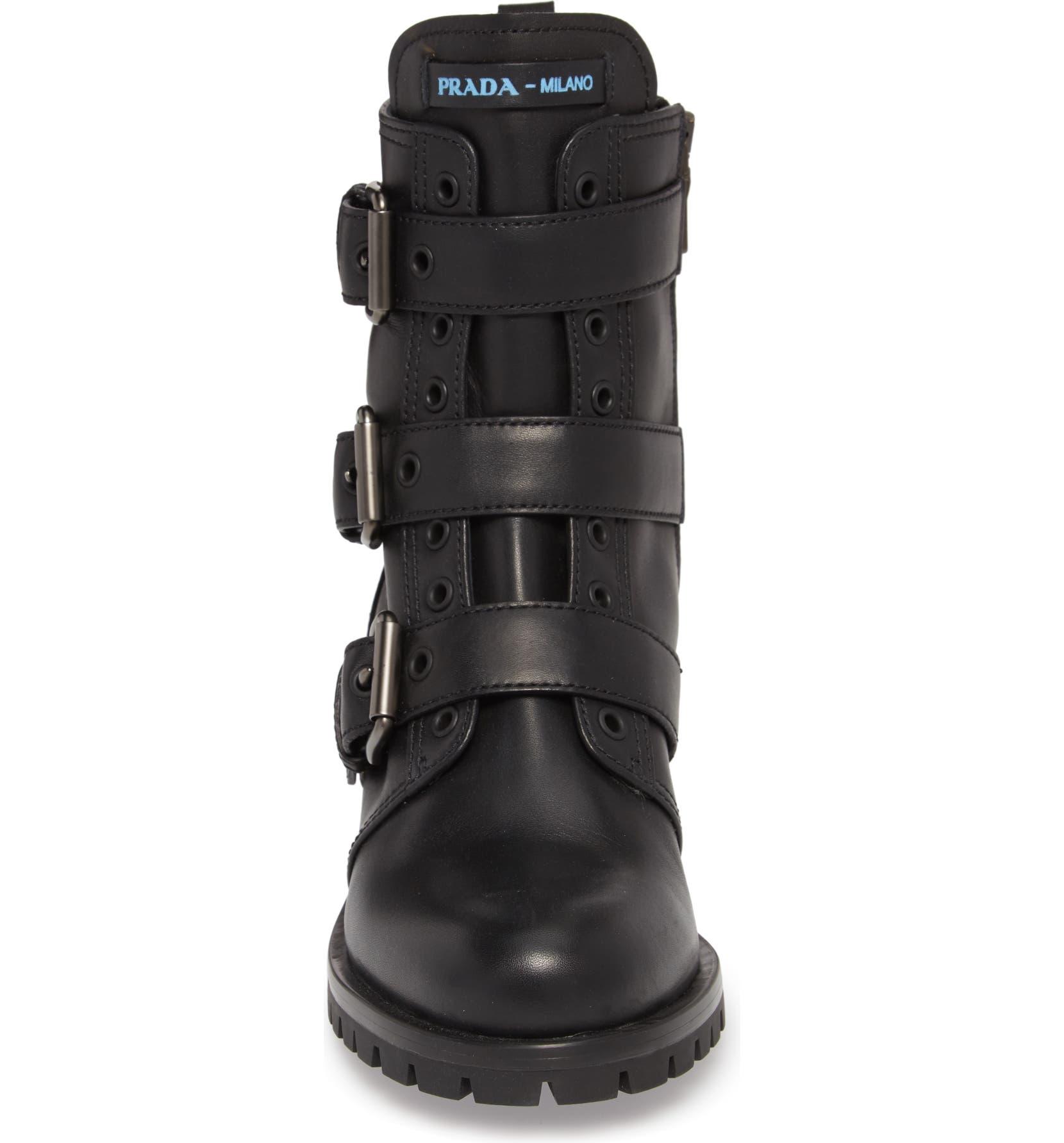 4b295fcce11 Triple Buckle Combat Boot