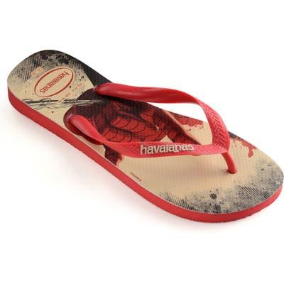 Havaianas Top Marvel Flip Flop, /8- Red