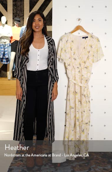 Faux Wrap Midi Dress, sales video thumbnail