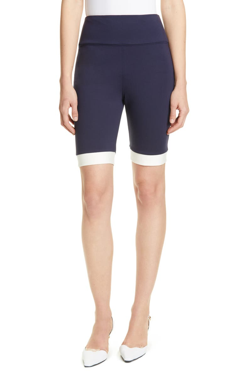 STAUD Cruise Bike Shorts, Main, color, NAVY/ WHITE