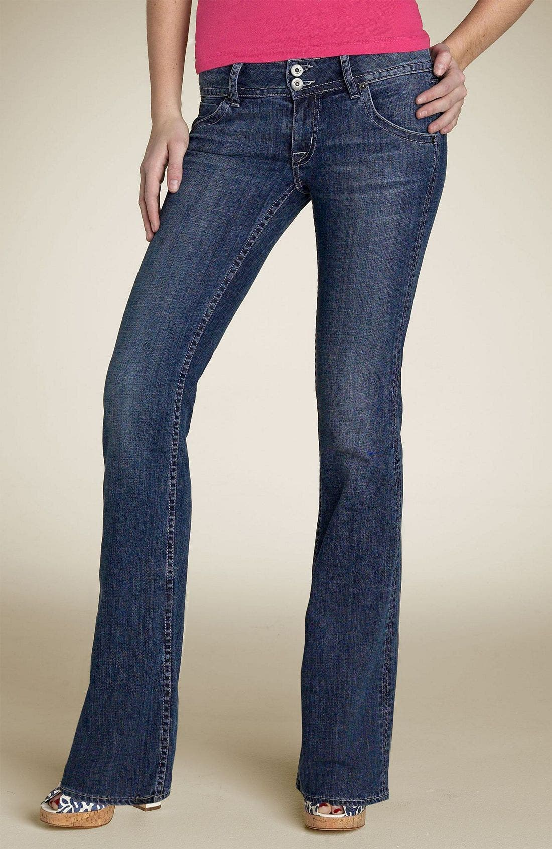 ,                             Signature Flap Pocket Bootcut Jeans,                             Main thumbnail 56, color,                             466