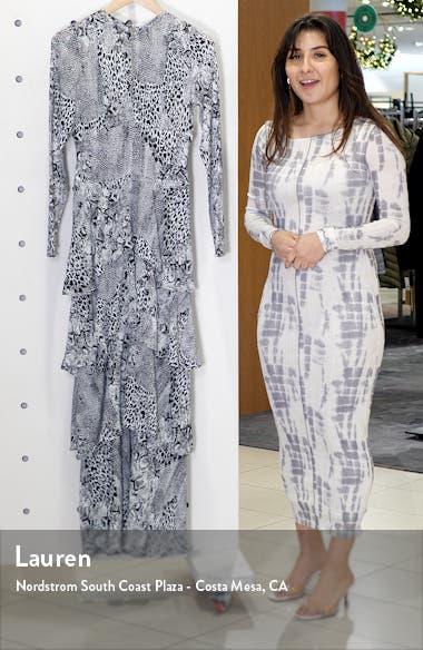 Kai Long Sleeve Ruffle Maxi Dress, sales video thumbnail