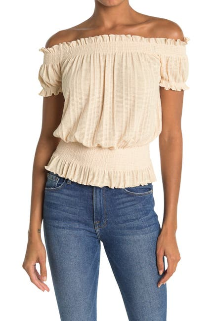 Image of Lush Off-the-Shoulder Knit Top