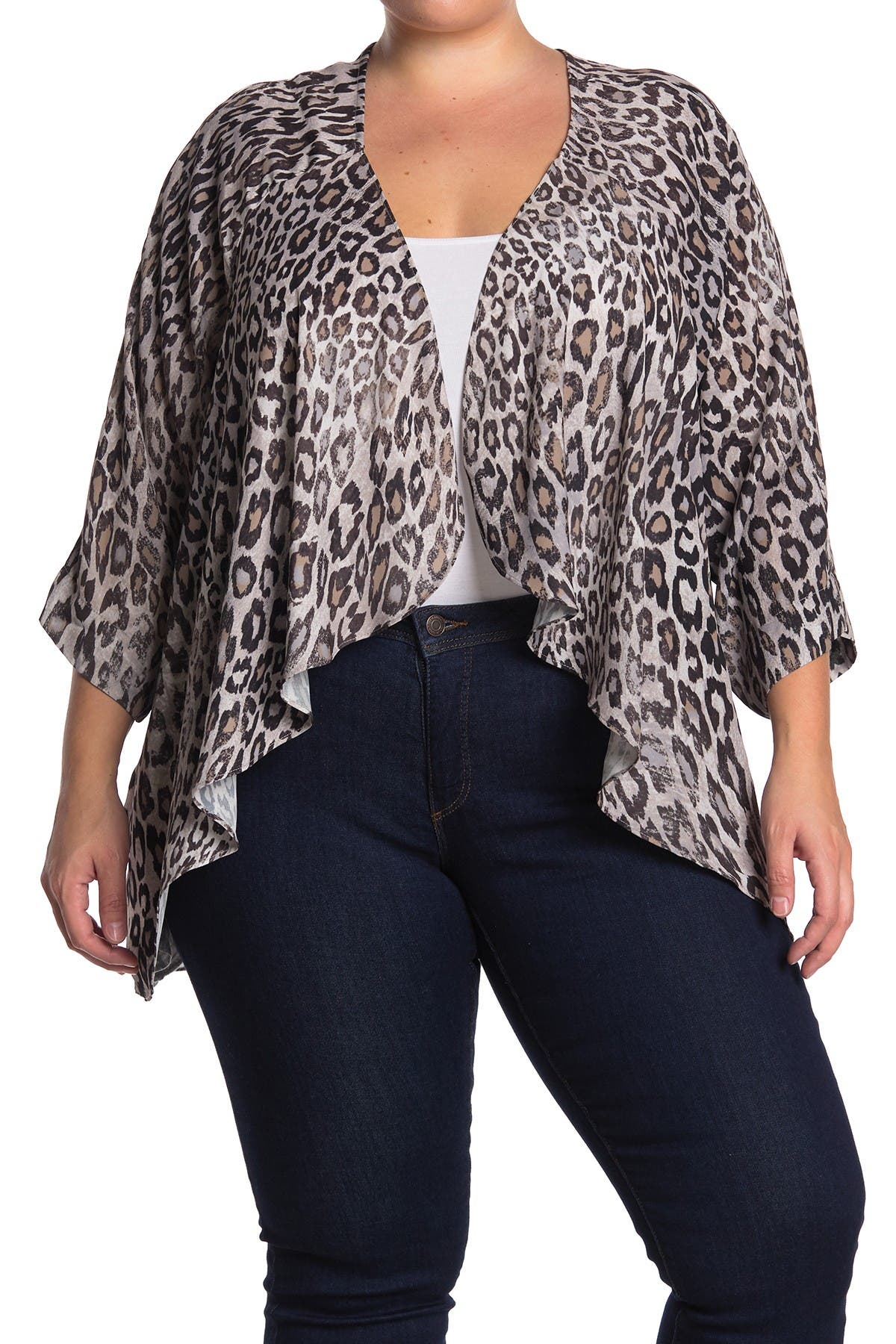 Image of Bobeau Printed Air Flow Cardigan