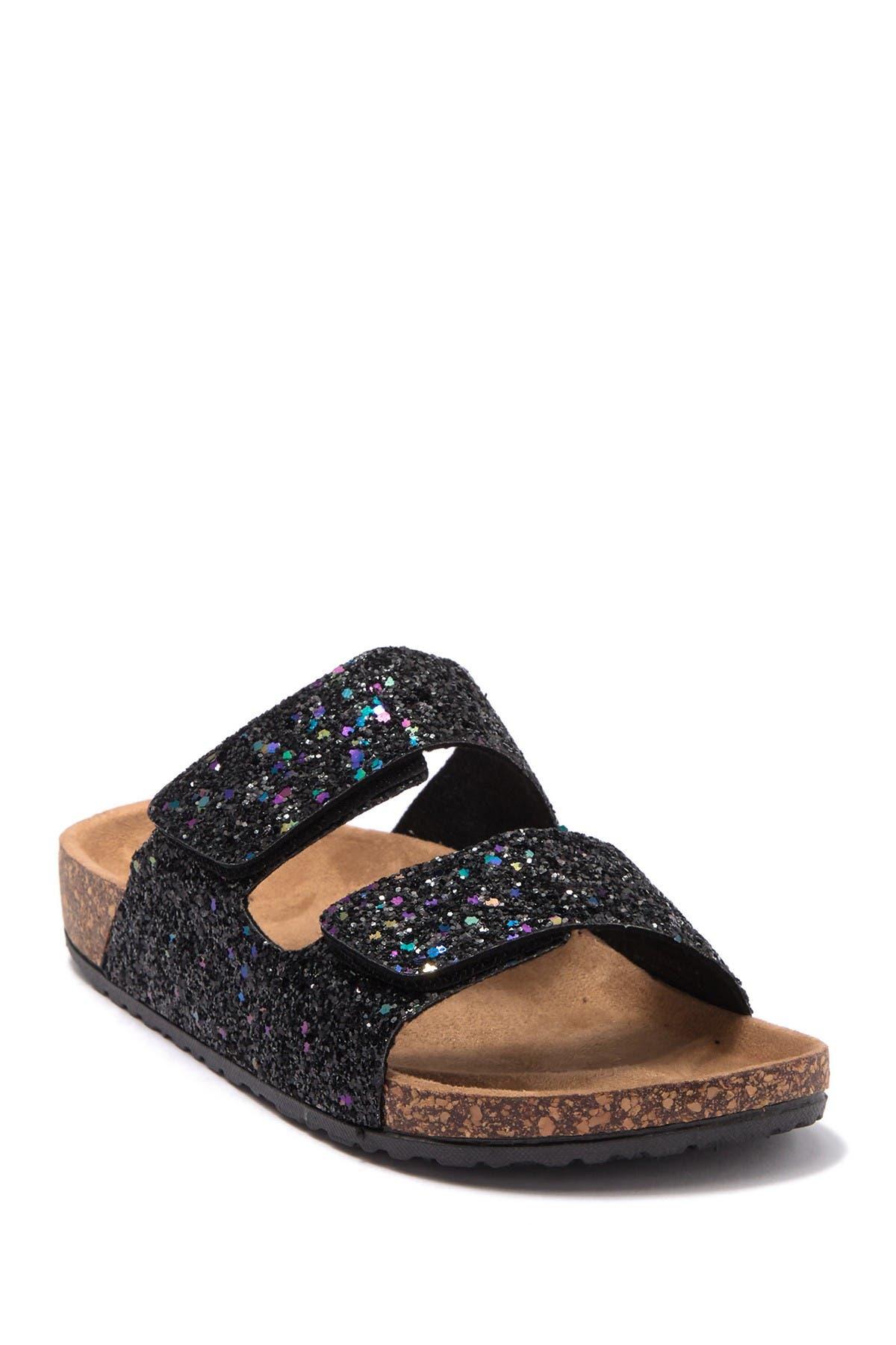 Image of OLIVIA MILLER Glitter Slide Sandal