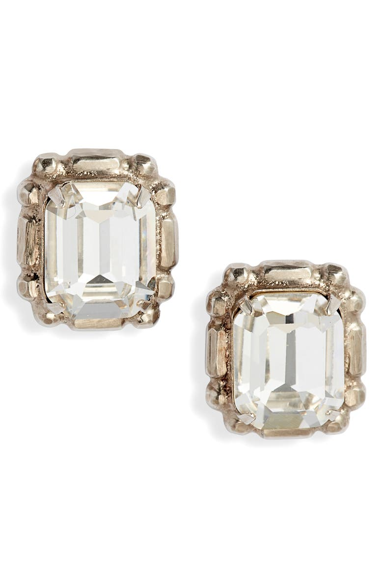 SORRELLI Emerald Cut Crystal Stud Earrings, Main, color, 040