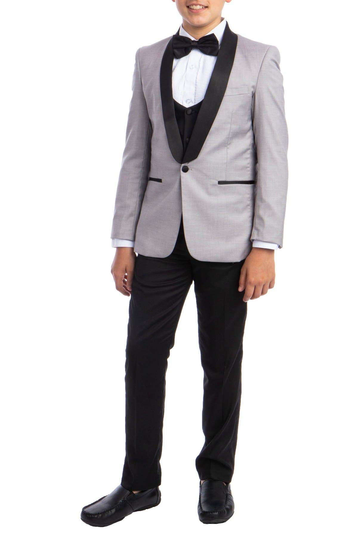 Image of Perry Ellis Portfolio Solid Shawl Collar 5-Piece Tuxedo