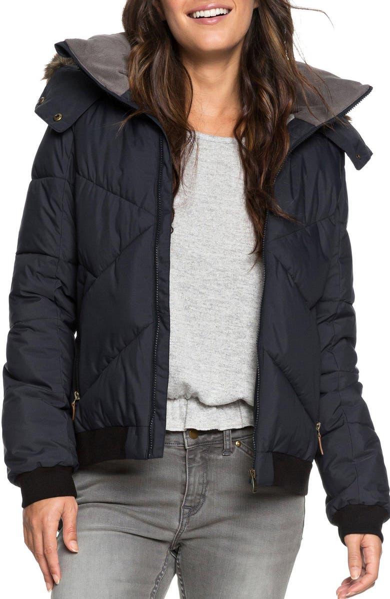 ROXY Hanna Puffer Jacket, Main, color, 002