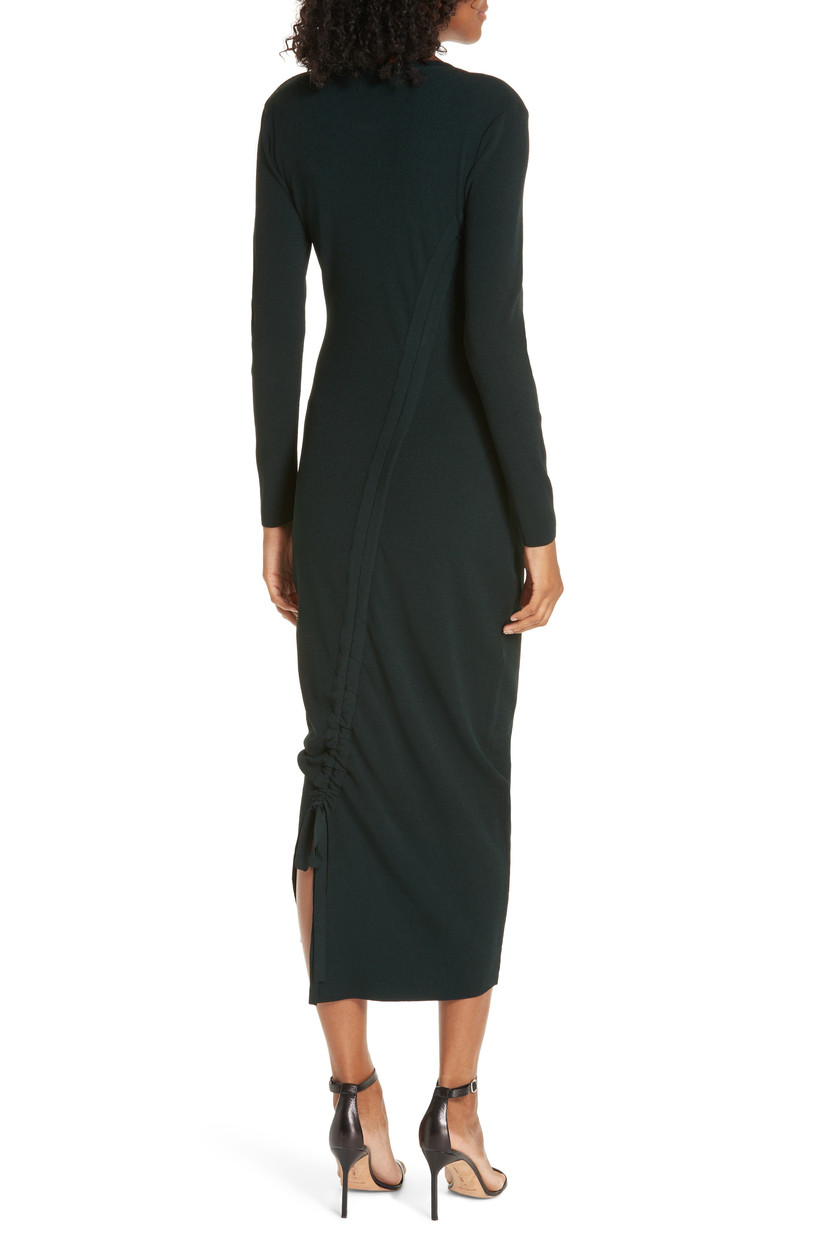 ,                             Diagonal Ruched Tunnel Dress,                             Alternate thumbnail 9, color,                             300