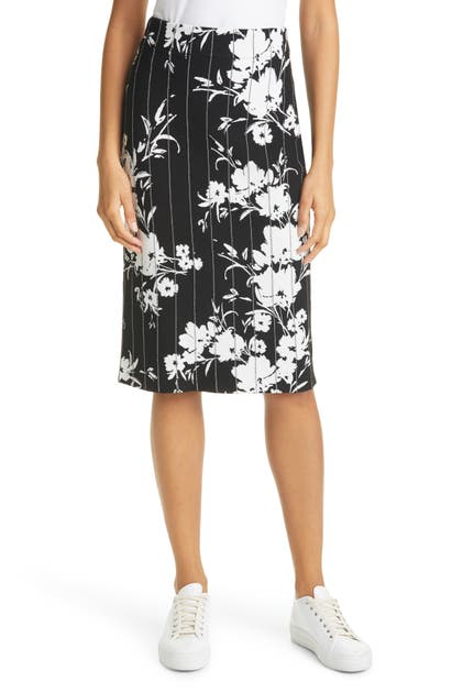 Milly SILHOUETTE FLORAL PENCIL SKIRT