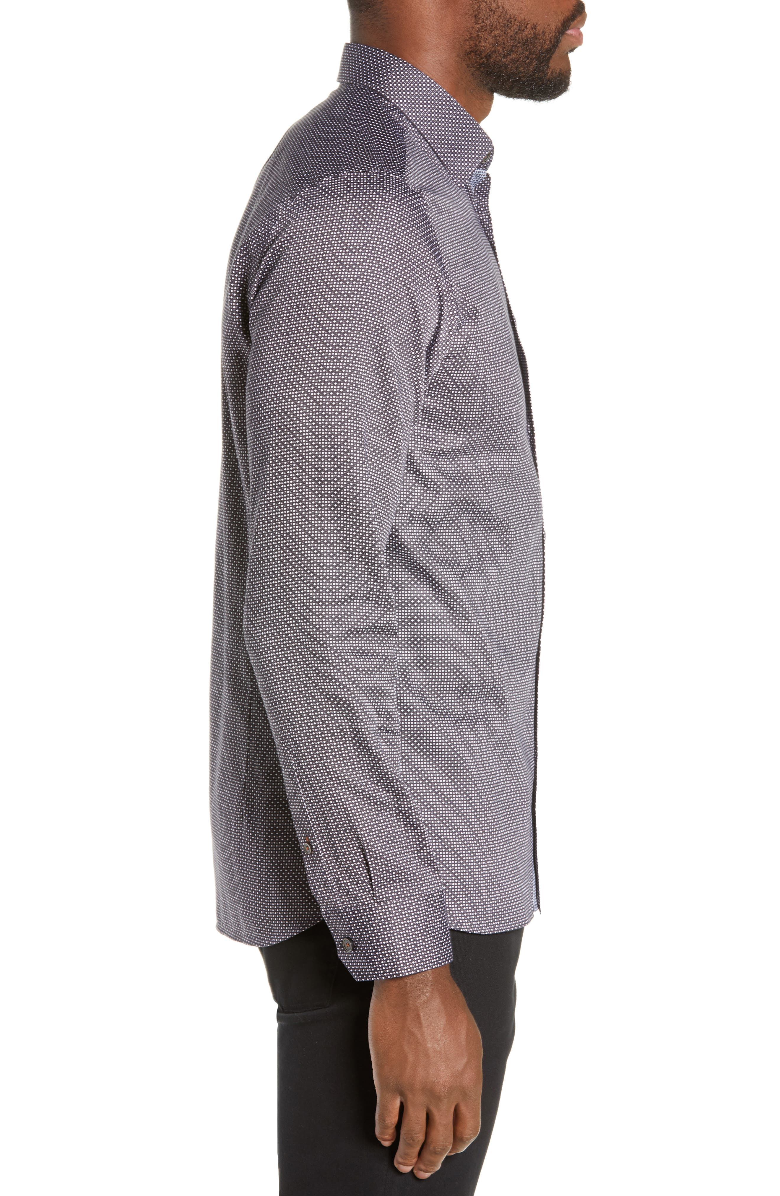 ,                             Subik Slim Fit Geo Print Sport Shirt,                             Alternate thumbnail 10, color,                             410