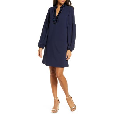 Lilly Pulitzer Shea Long Sleeve Tunic Dress, Blue