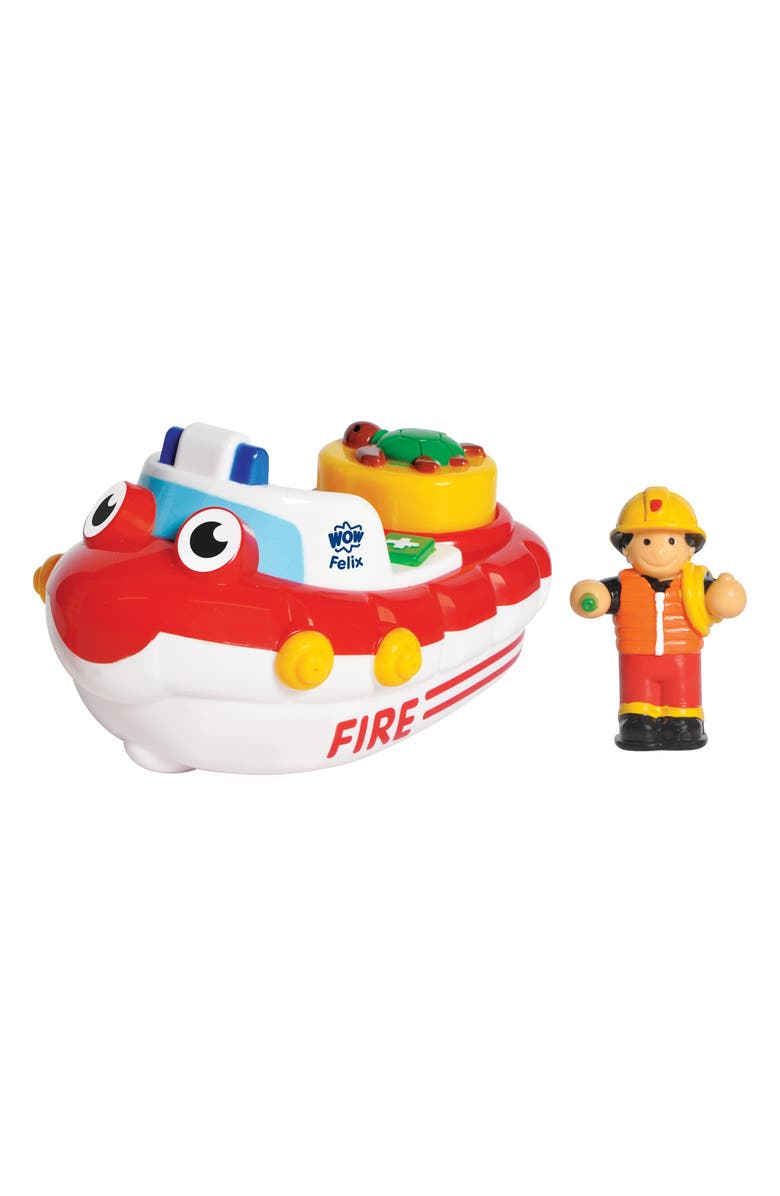 WOW TOYS Fireboat Felix Toy, Main, color, RED