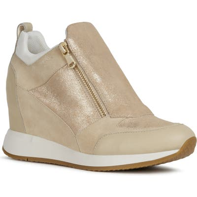 Geox Nydame Wedge Sneaker - Beige