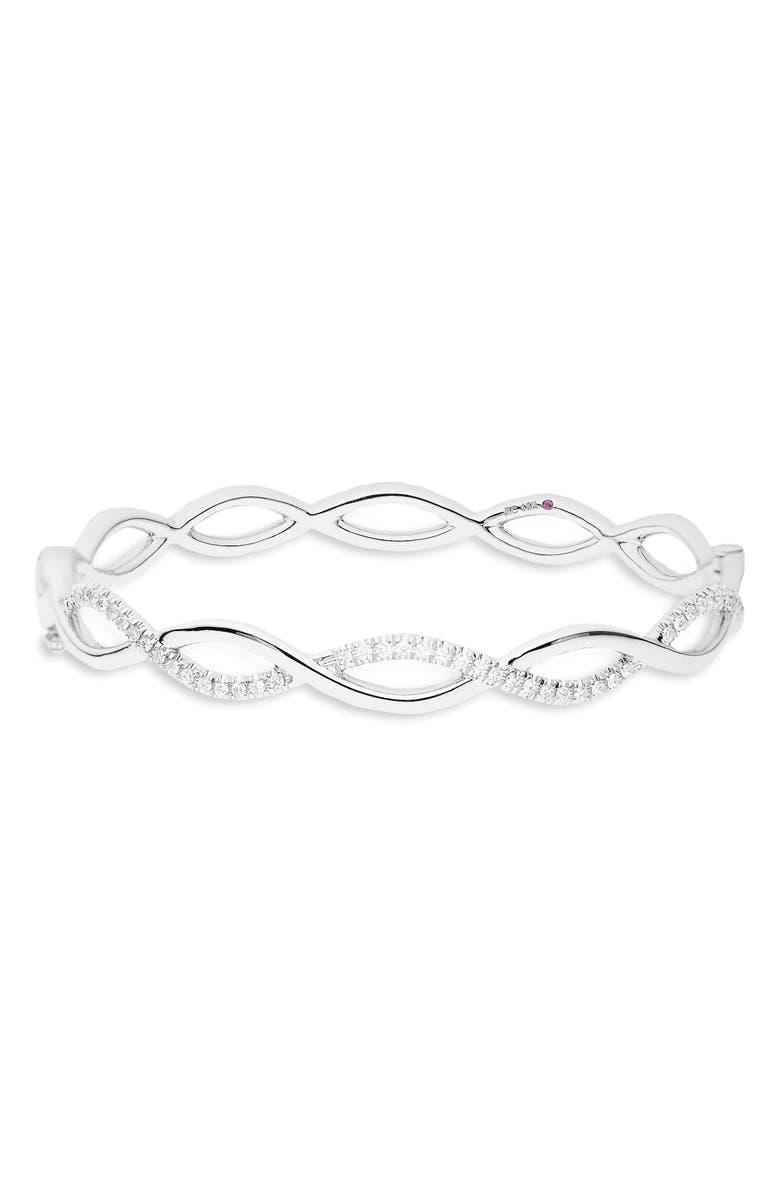 ROBERTO COIN Diamond Infinity Bracelet, Main, color, WHITE GOLD