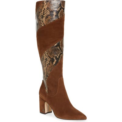 Sam Edelman Hai Knee High Boot- Brown