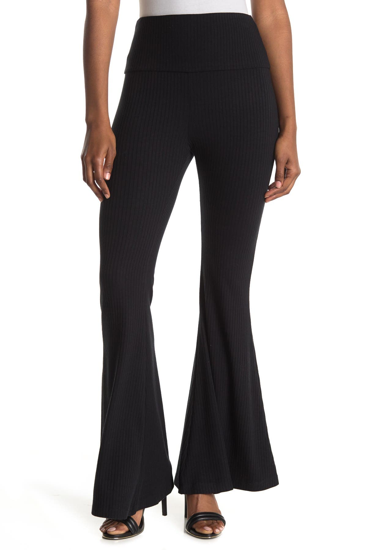 Image of Abound High Waist Ribbed Flared Leggings