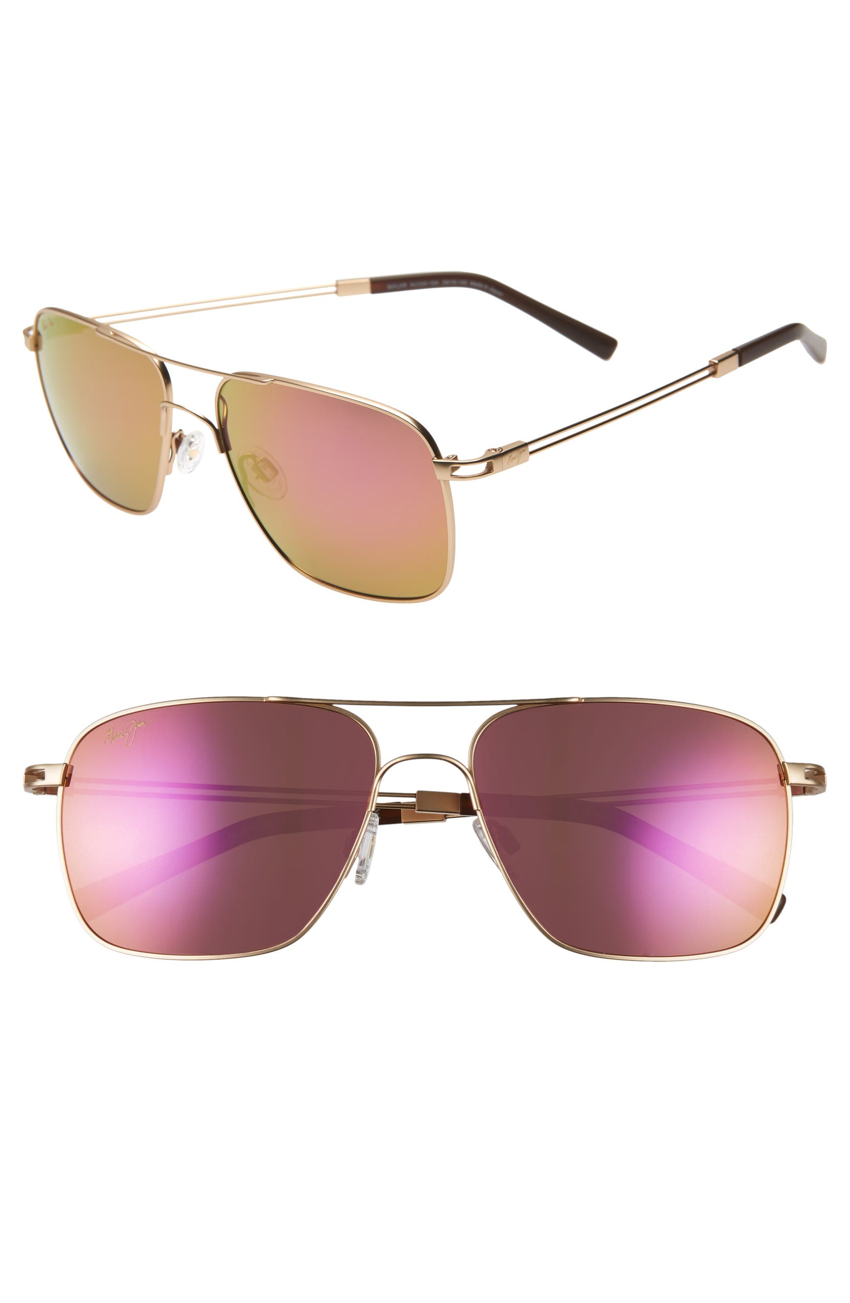31a2b80b95 Maui Jim Haleiwa 56mm Mirrored Polarized Navigator Sunglasses | Nordstrom