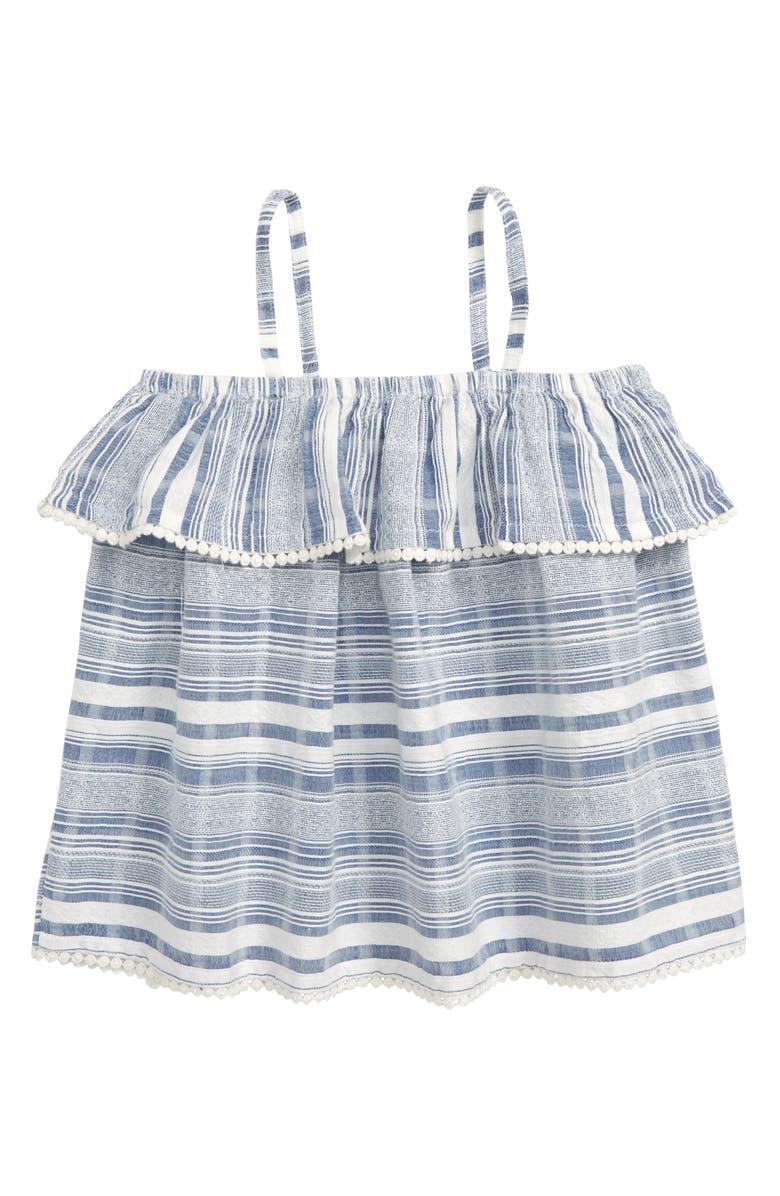 TUCKER + TATE Mix It Up Stripe Top, Main, color, WHITE- BLUE STRIPE