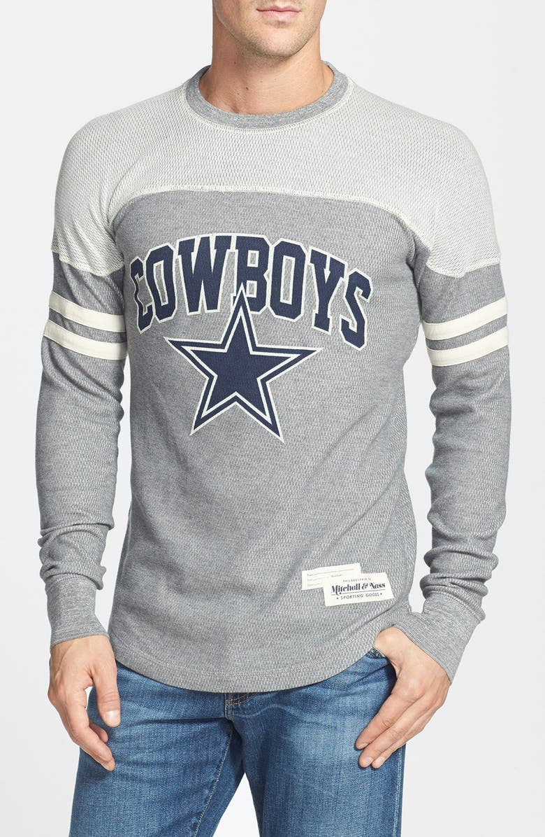 separation shoes 63d4b 21f44 Mitchell & Ness 'Rushing Line - Dallas Cowboys' Thermal T ...