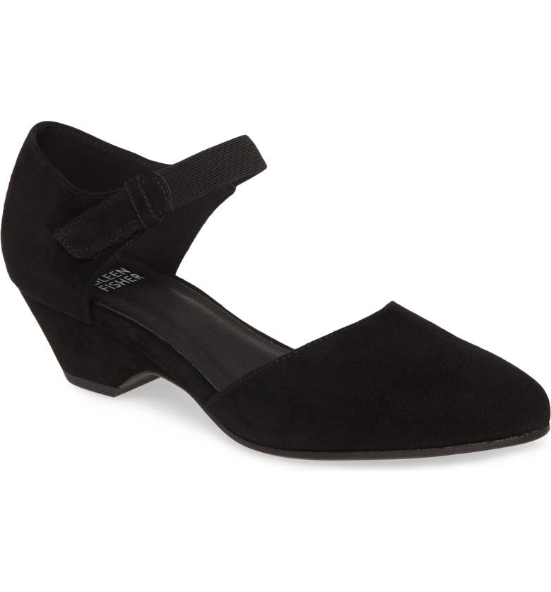 EILEEN FISHER Gal Pump, Main, color, BLACK SUEDE