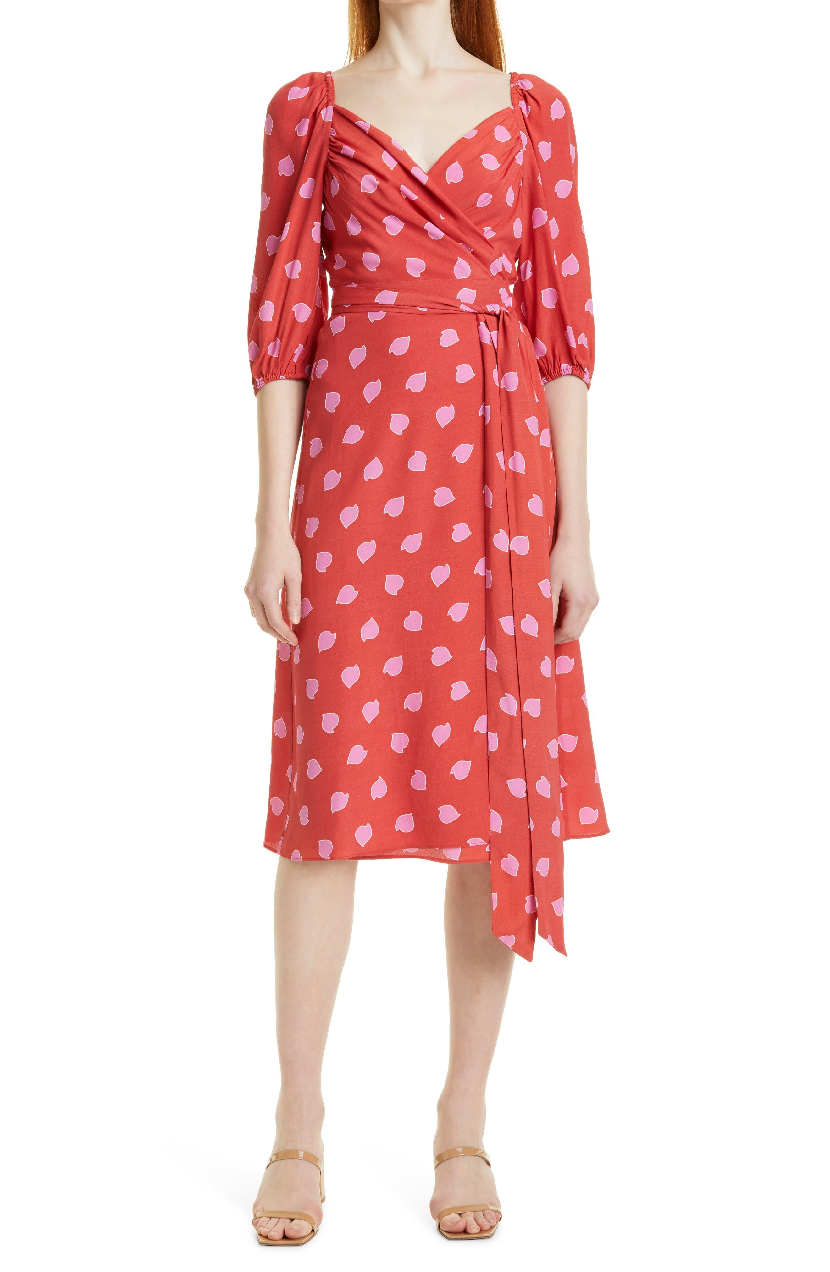 Battista Petal Print Wrap Dress