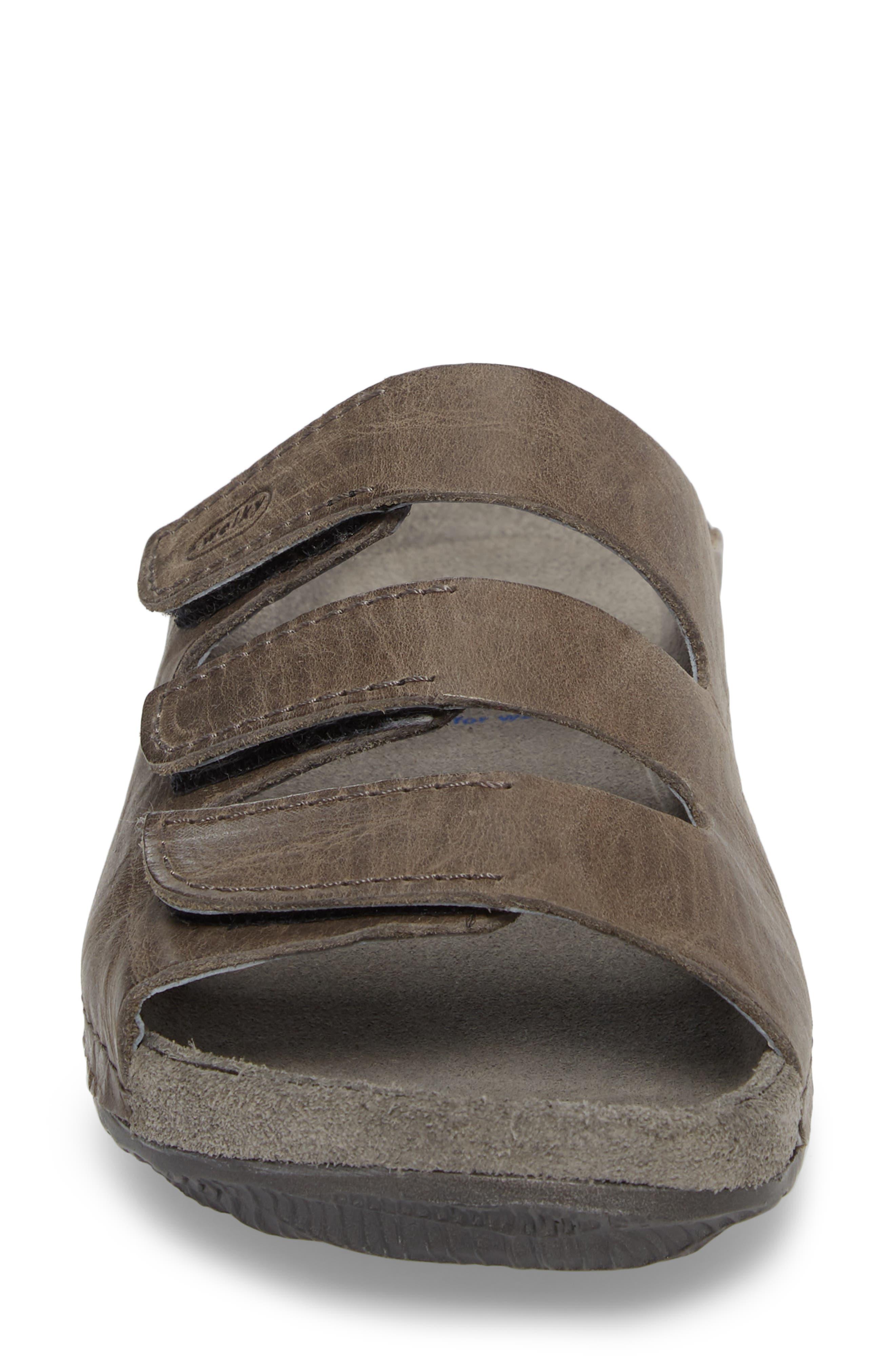 ,                             Nomad Slide Sandal,                             Alternate thumbnail 4, color,                             SLATE LEATHER