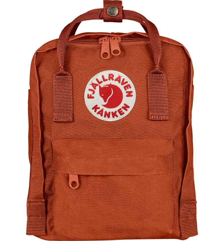 FJÄLLRÄVEN 'Mini Kånken' Water Resistant Backpack, Main, color, AUTUMN LEAF