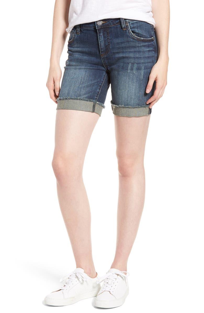 KUT FROM THE KLOTH Catherine Boyfriend Cutoff Shorts, Main, color, 462