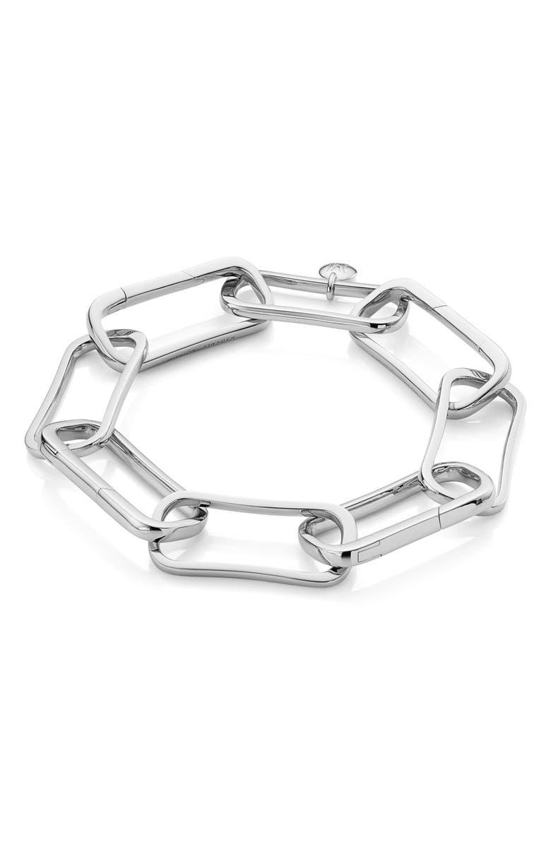 MONICA VINADER Alta Capture Large Link Bracelet, Main, color, SILVER
