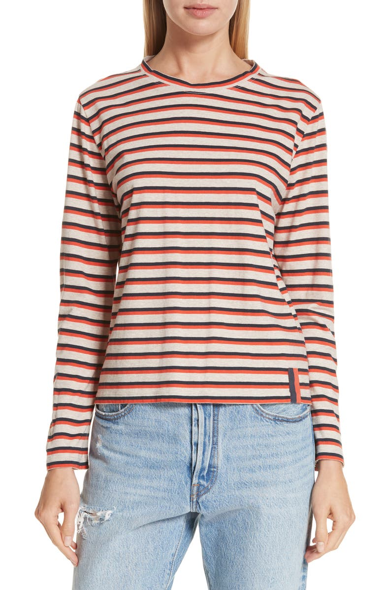 KULE The Modern Stripe Cotton Tee, Main, color, 270