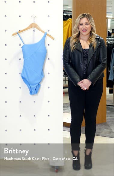 Fine Line One-Shoulder One-Piece Swimsuit, sales video thumbnail