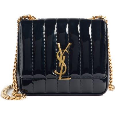 Saint Laurent Small Vicky Patent Leather Crossbody Bag - Black