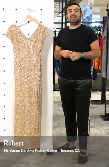 Beaded V-Neck Evening Gown, sales video thumbnail