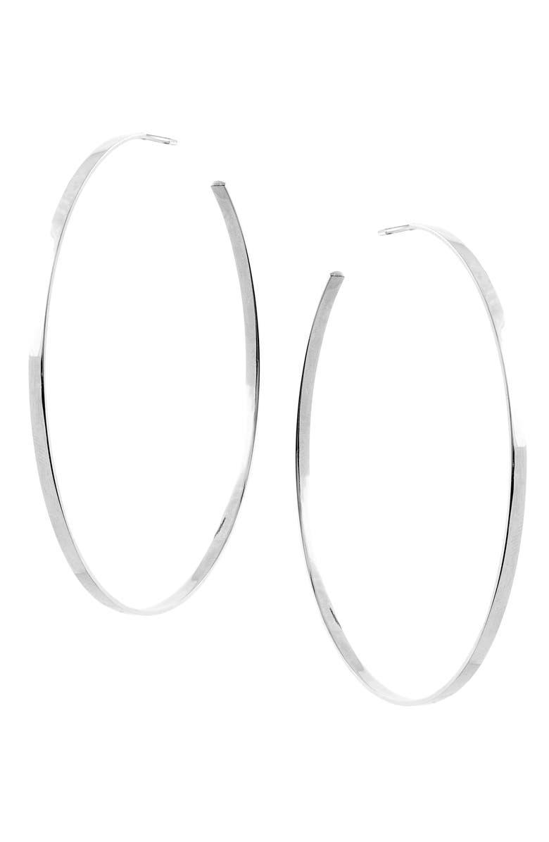 LANA JEWELRY Sunrise Hoop Earrings, Main, color, WHITE GOLD