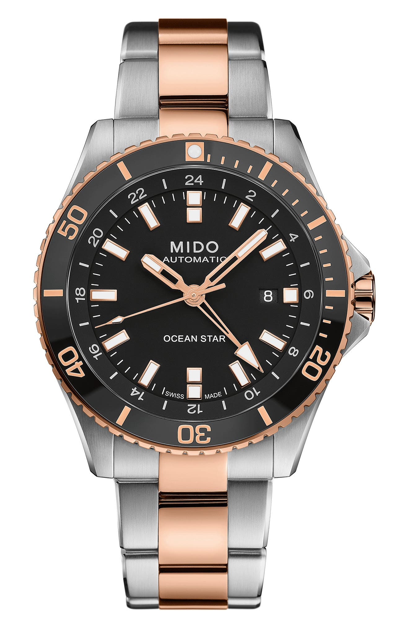 Ocean Star Gmt Automatic Bracelet Watch