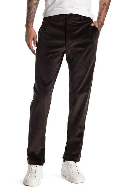 Image of Salvatore Ferragamo Relaxed Skinny Zip Ankle Corduroy Pants