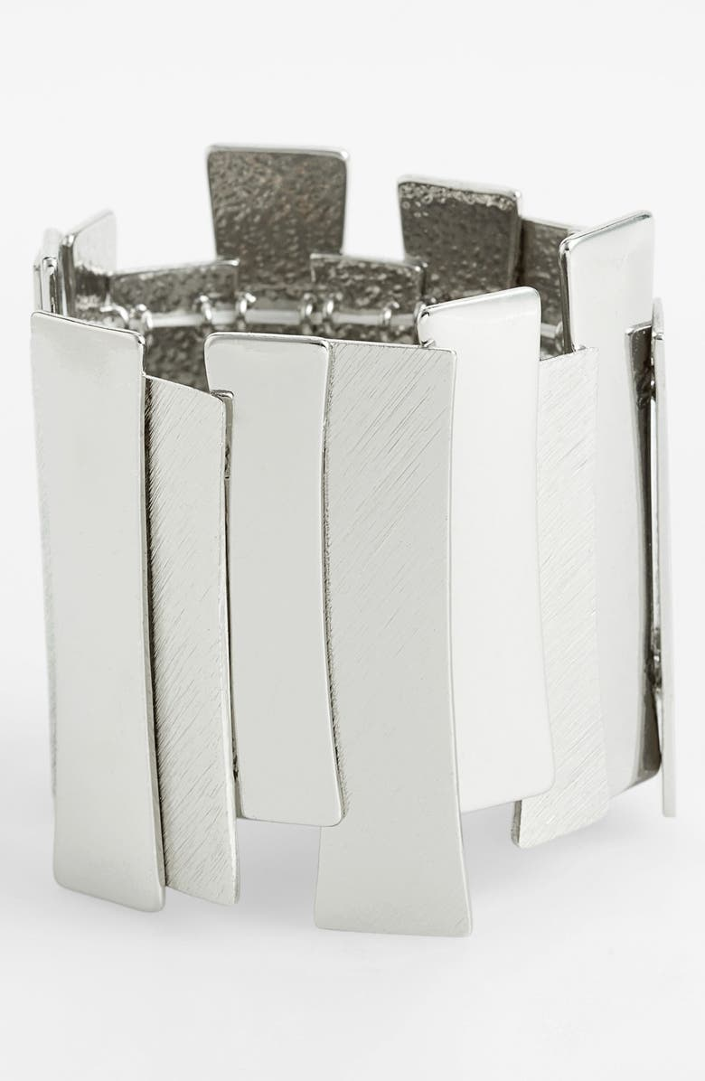 LEITH Metallic Bar Stretch Bracelet, Main, color, 040