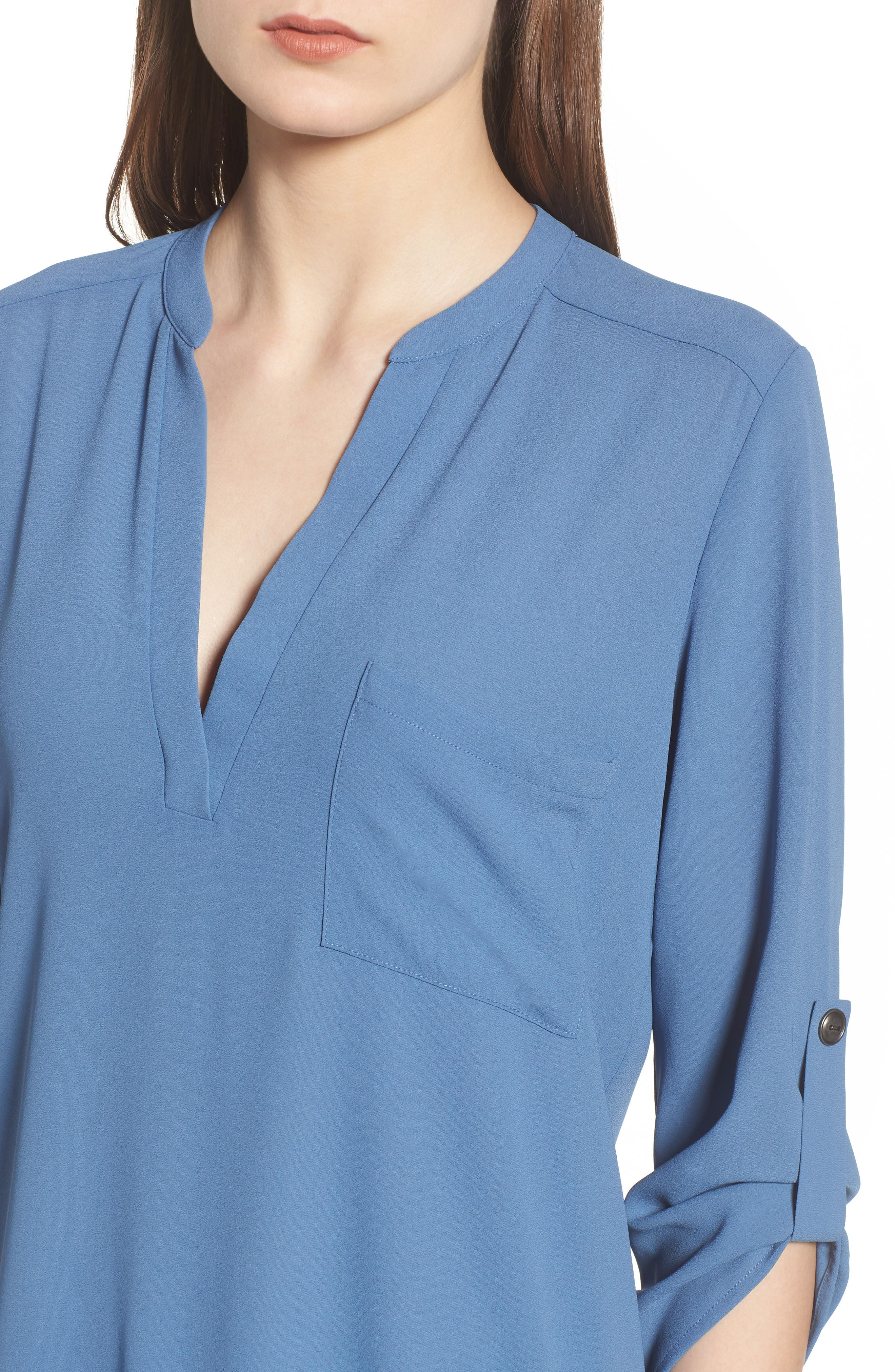 ,                             Perfect Roll Tab Sleeve Tunic,                             Alternate thumbnail 282, color,                             424