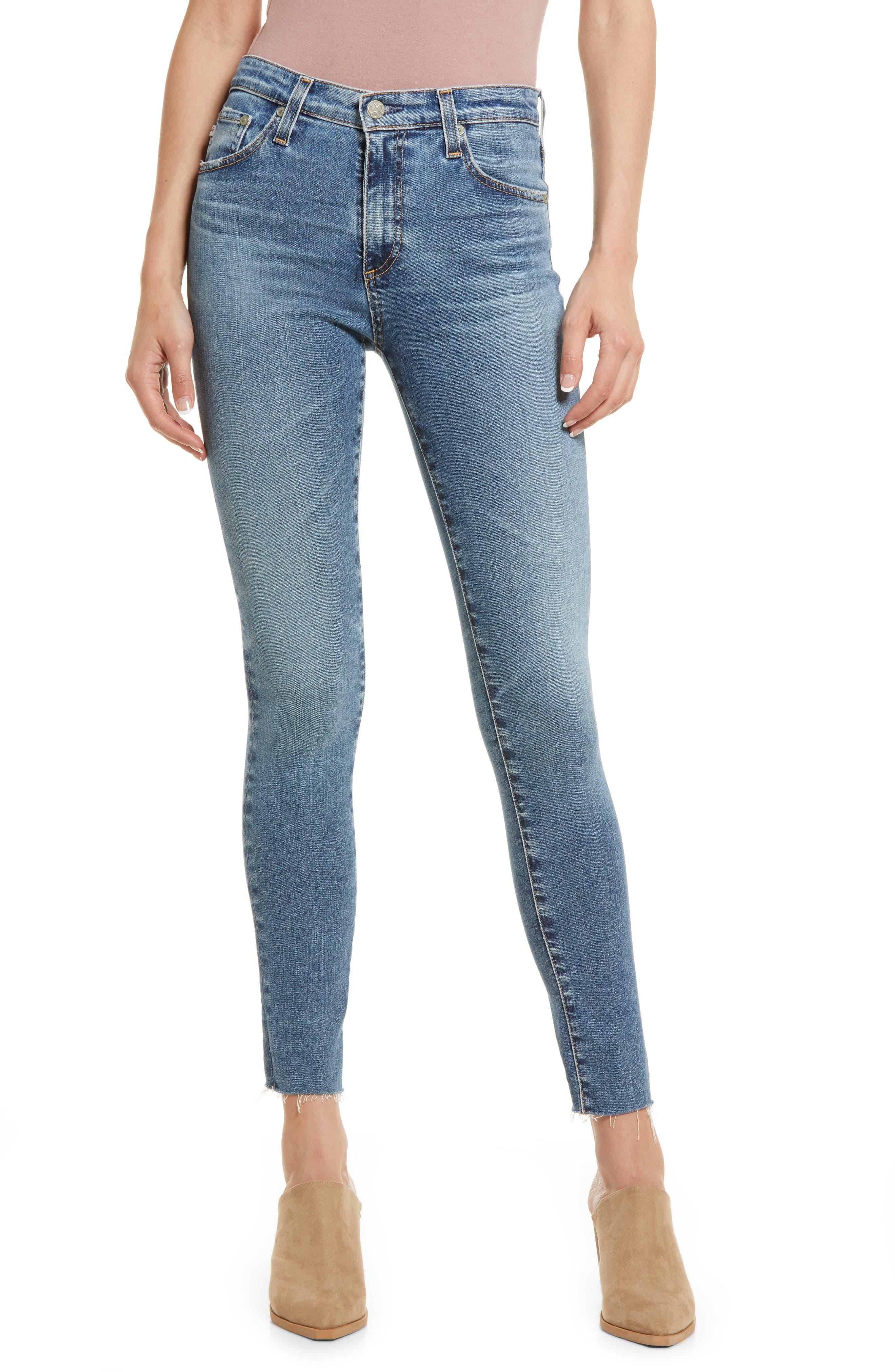 The Farrah High Waist Ankle Skinny Jeans