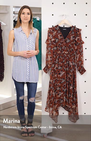 Fanciful Flower Long Sleeve Dress, sales video thumbnail